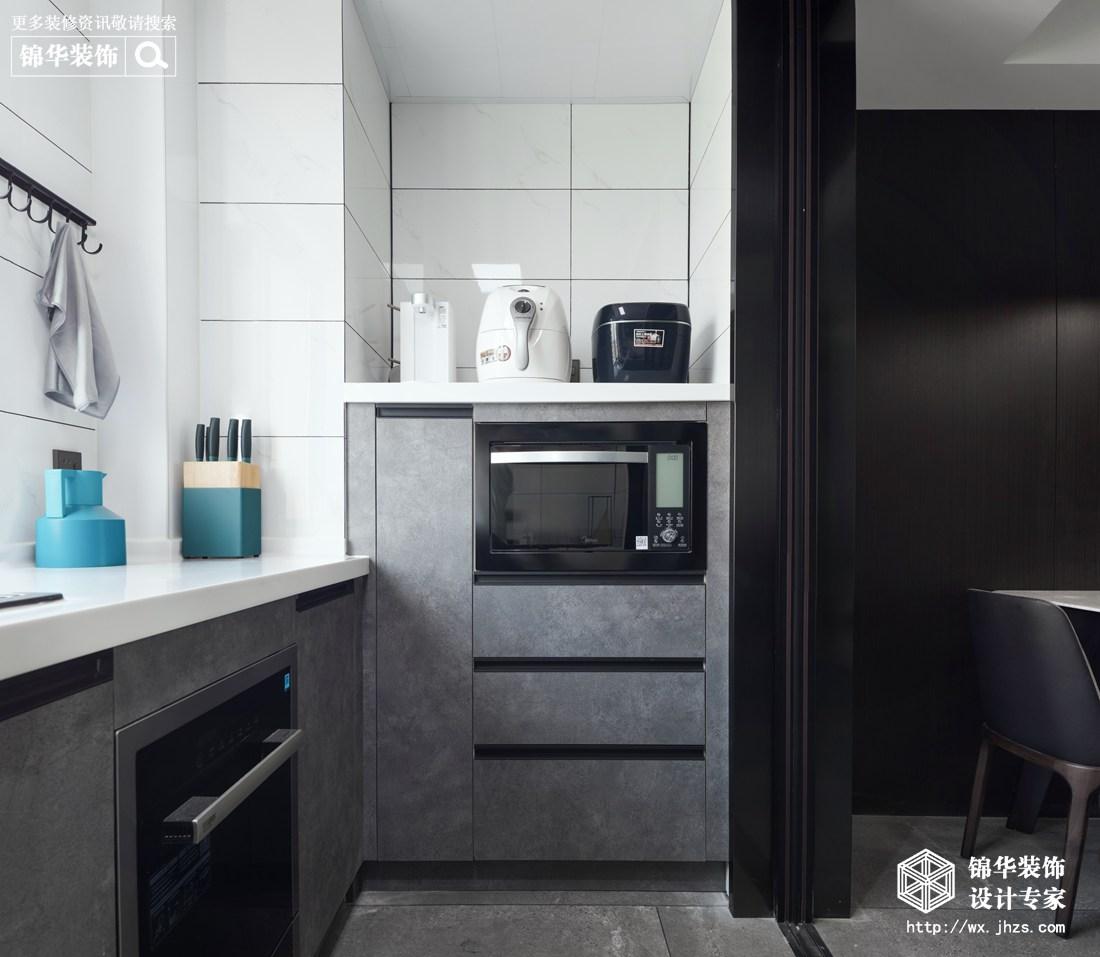 现代简约-百乐广场-三室两厅-140平-厨房-装修实景效果图