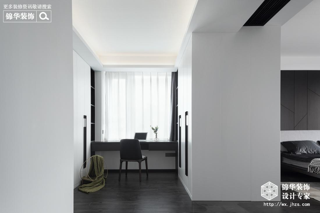现代简约-百乐广场-三室两厅-140平-书房-装修实景效果图
