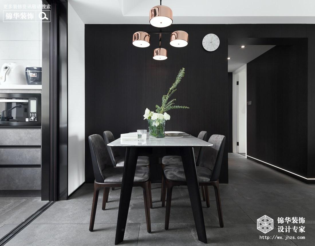 现代简约-百乐广场-三室两厅-140平-餐厅-装修实景效果图