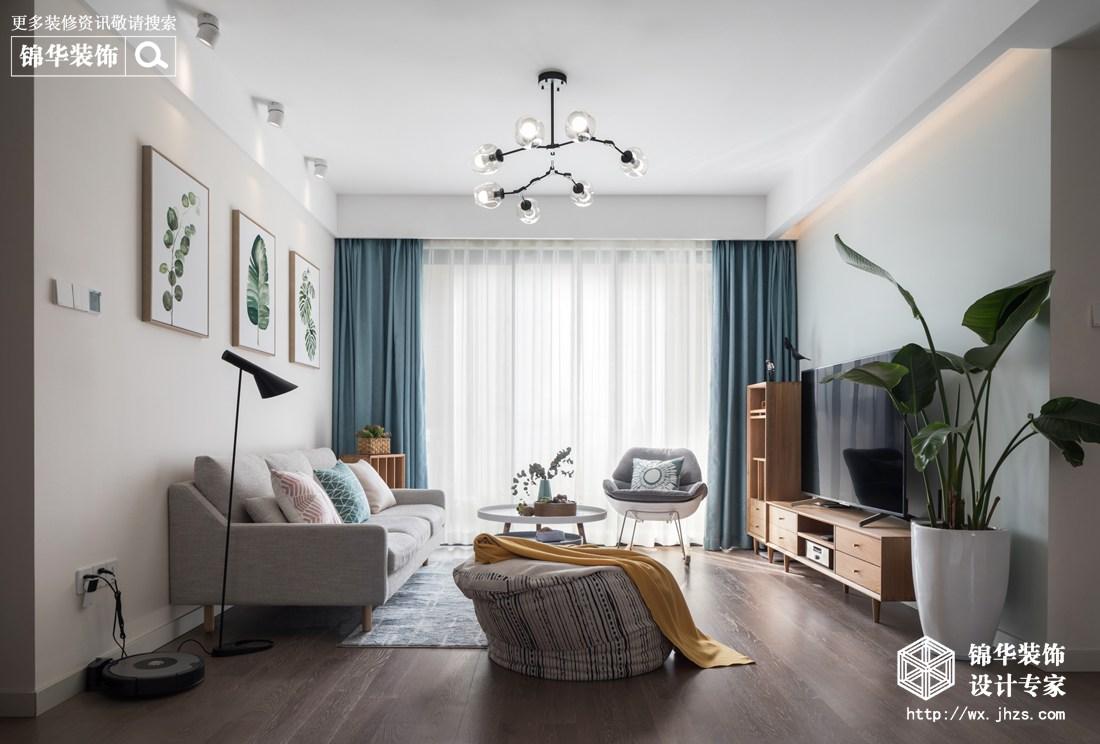 北欧风格-保利香槟-三室两厅-94平-装修实景效果图