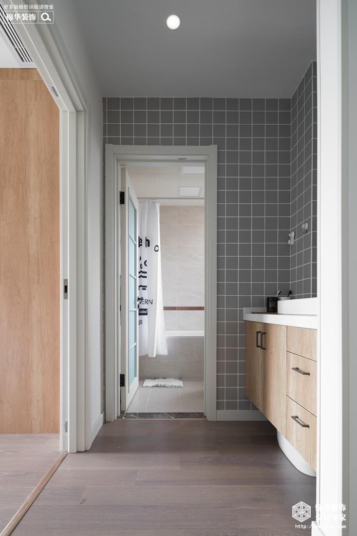 北欧风格-保利香槟-三室两厅-94平-卫生间-装修实景效果图