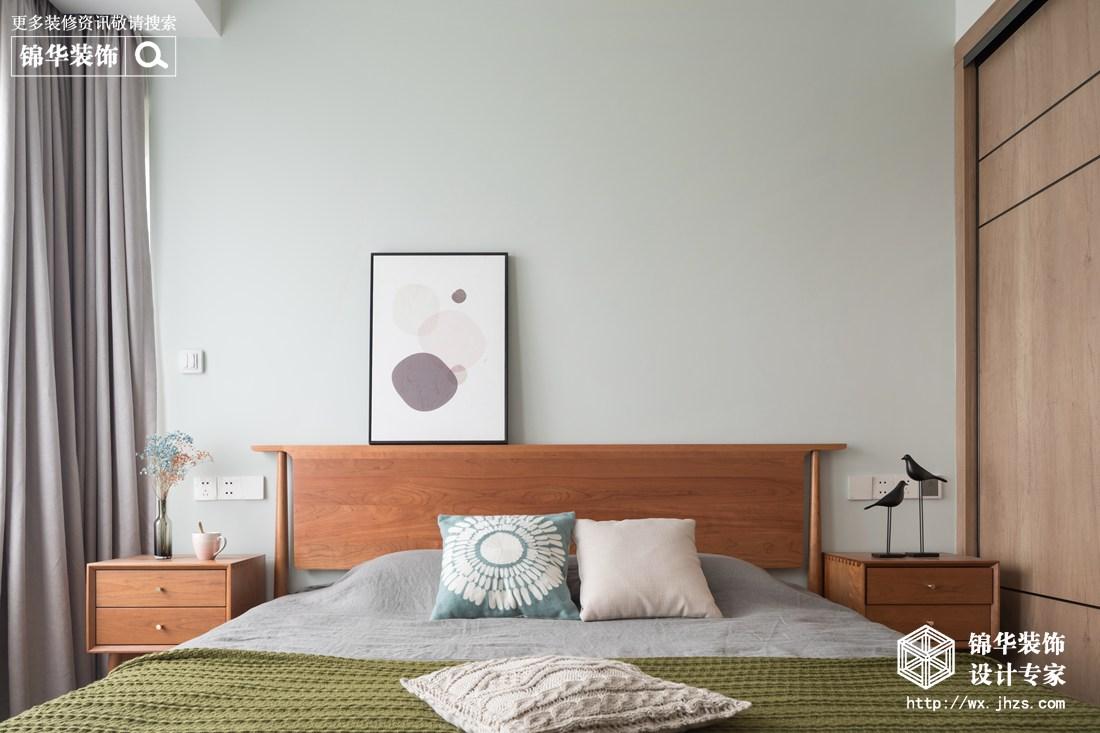 北欧风格-保利香槟-三室两厅-94平-卧室-装修实景效果图