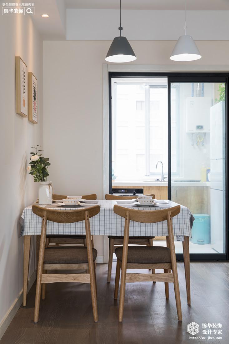北欧风格-保利香槟-三室两厅-94平-餐厅-装修实景效果图