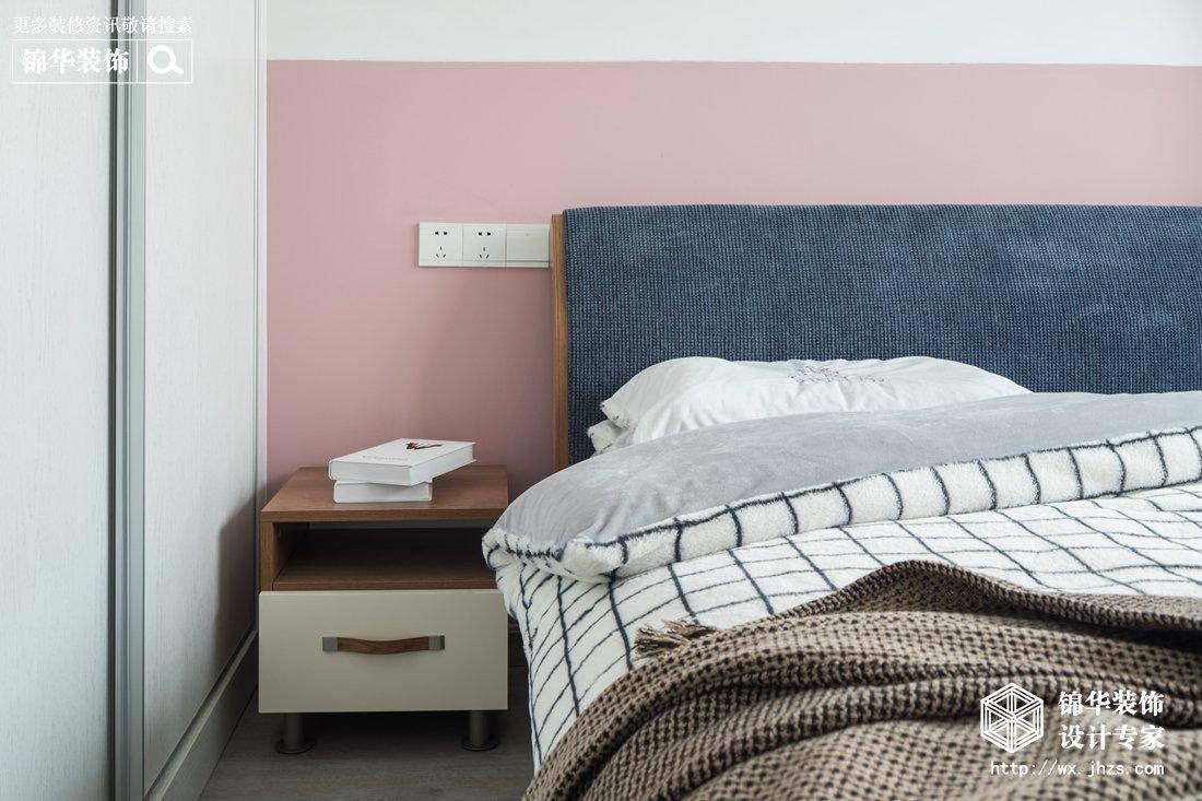 现代北欧风格-水清木华-三室两厅-90平-装修实景效果图装修-三室两厅-北欧