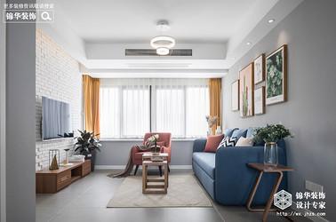 现代北欧风格-水清木华-三室两厅-90平-装修实景效果图