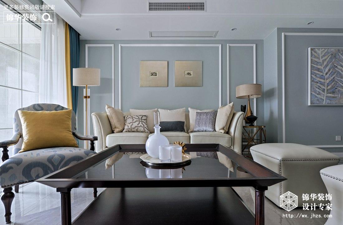 中建溪岸观邸124平美式风格实景图