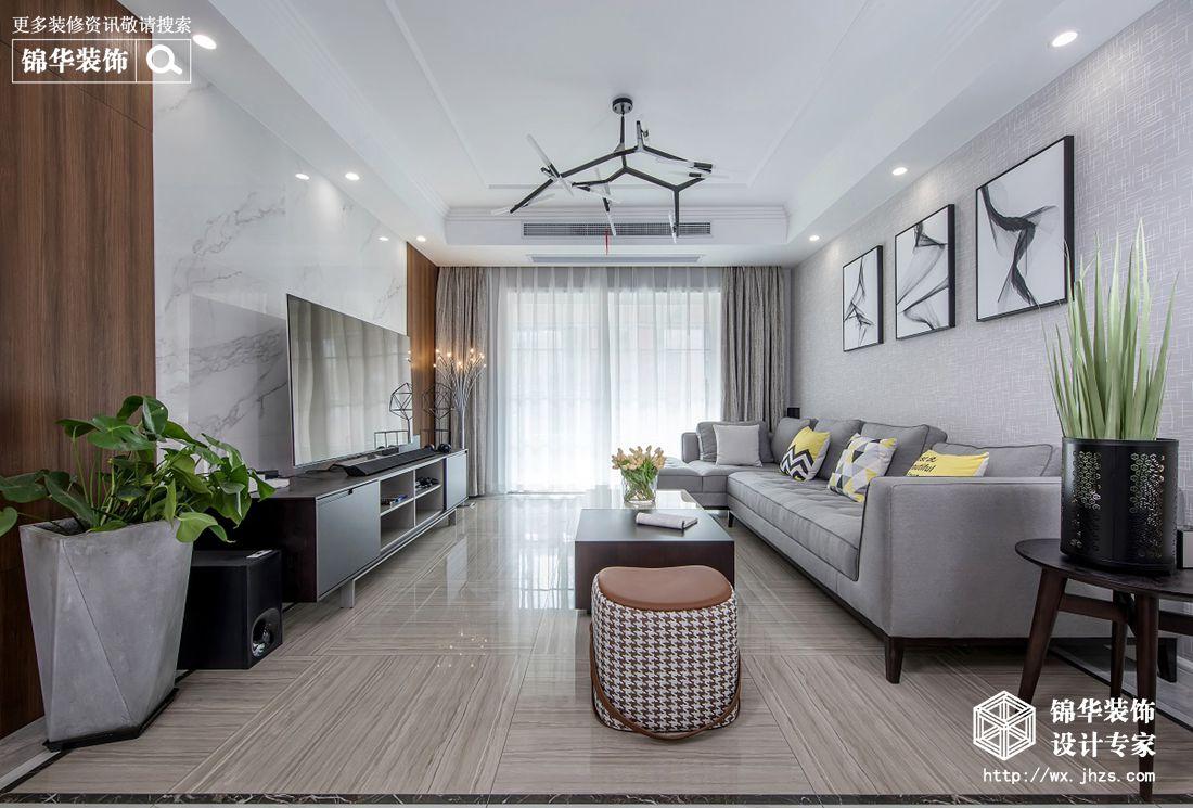 现代风格-耘林生命公寓-三室两厅-138平米-装修实景效果图