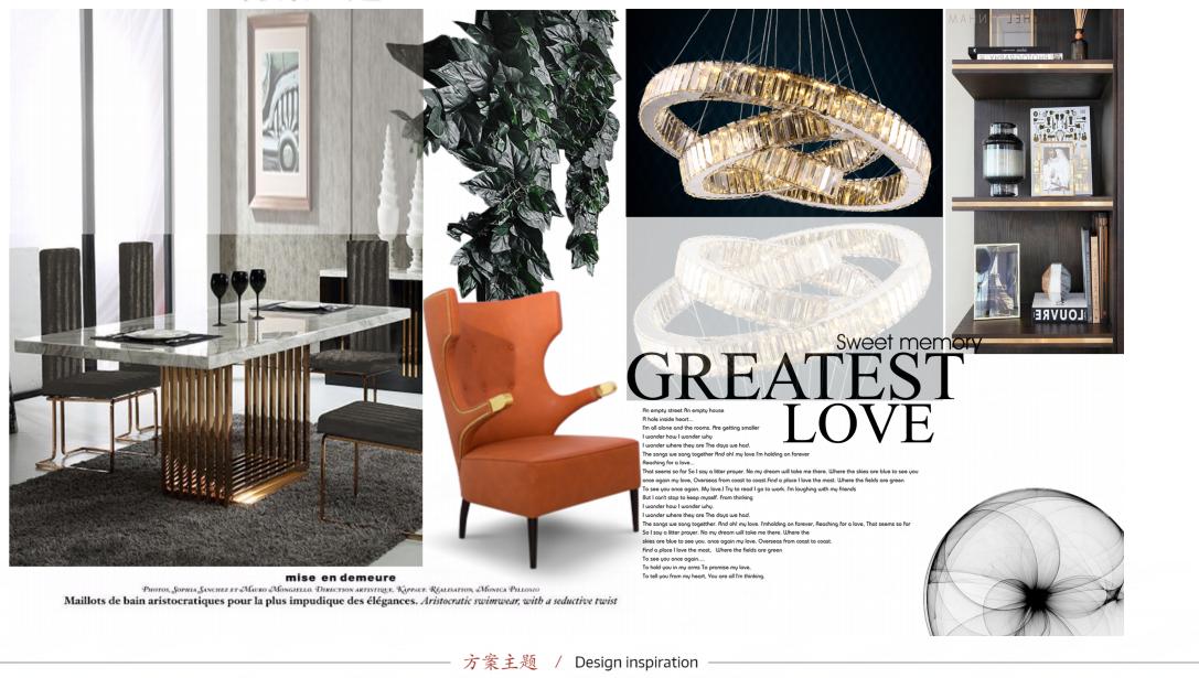 碧桂园135平现代美式风格软装设计