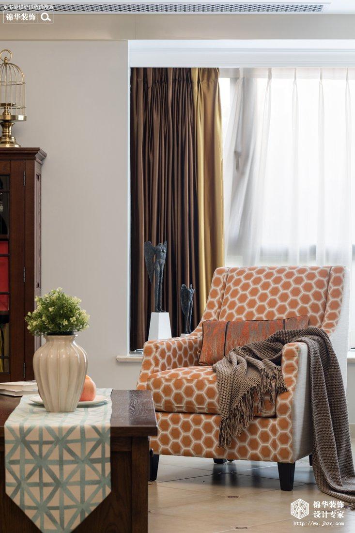 阳光城市花园120平现代美式风格实景图装修-三室两厅-简美