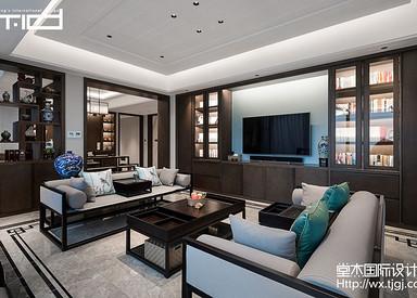 香樟园280平新中式风格实景图