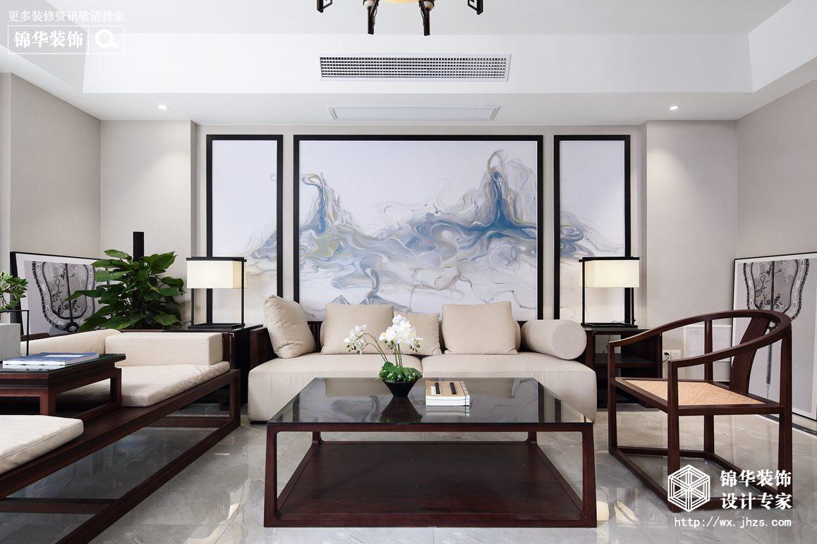 长江国际花园240平新中式风格实景图