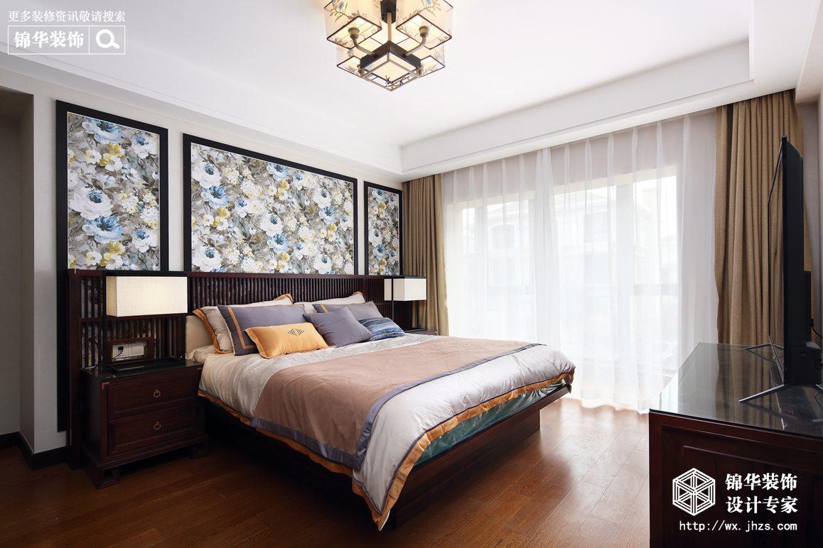 长江国际花园240平新中式风格实景图装修-跃层复式-新中式