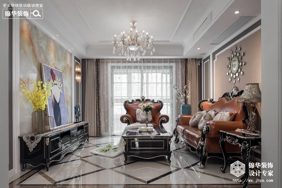凤凰城130平新古典风格实景图