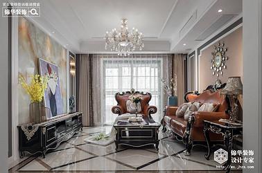 新古典风格-凤凰城-三室两厅-130平-装修实景效果图