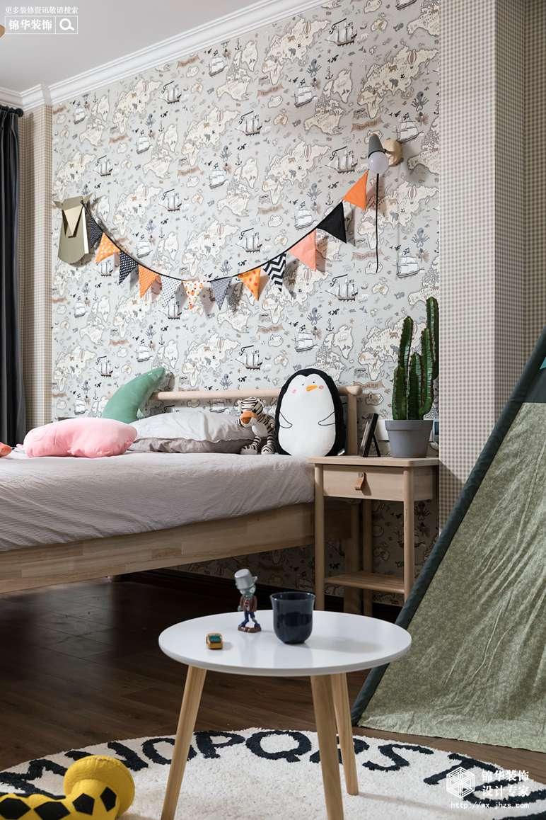 现代美式风格-景瑞望府-三室两厅-200平-儿童房-装修实景效果图