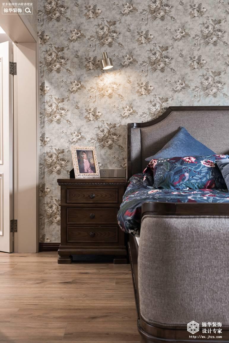 现代美式风格-景瑞望府-三室两厅-200平-卧室-装修实景效果图