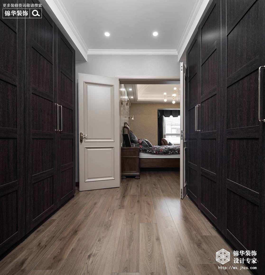 现代美式风格-景瑞望府-三室两厅-200平-衣帽间-装修实景效果图