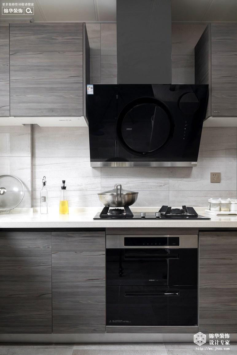 现代美式风格-景瑞望府-三室两厅-200平-厨房-装修实景效果图