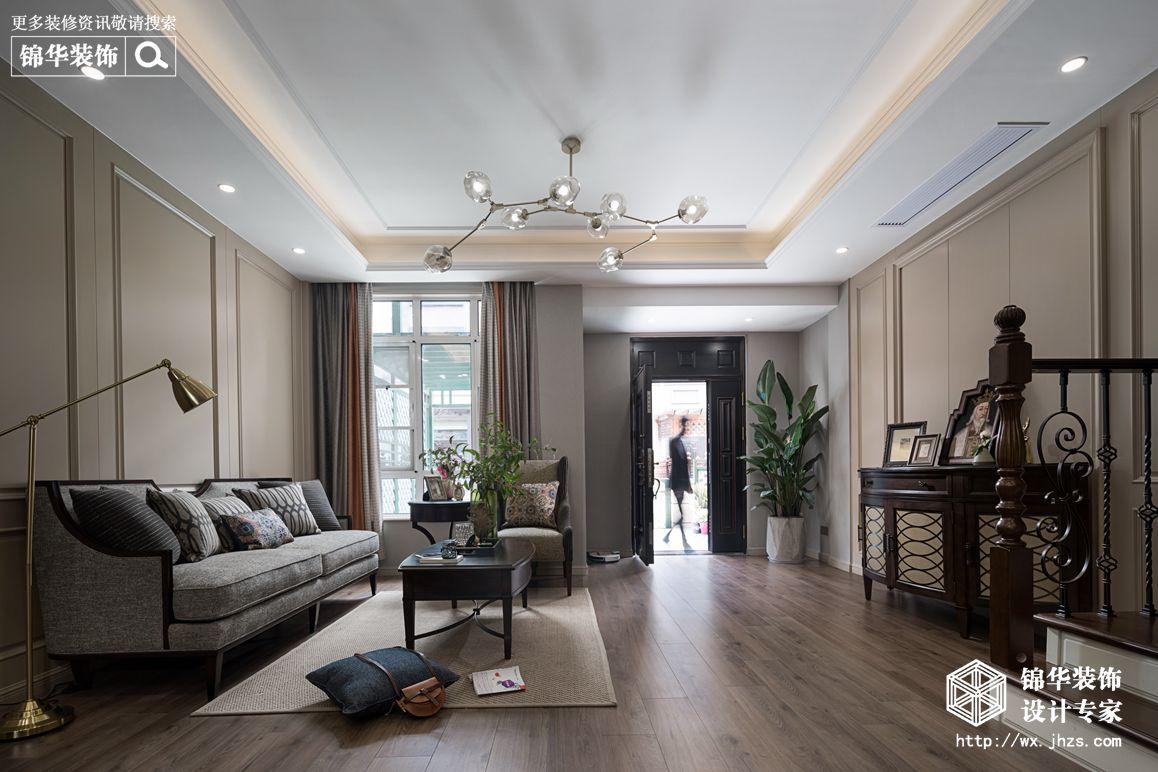 现代美式风格-景瑞望府-三室两厅-200平-装修实景效果图装修-三室两厅-简美