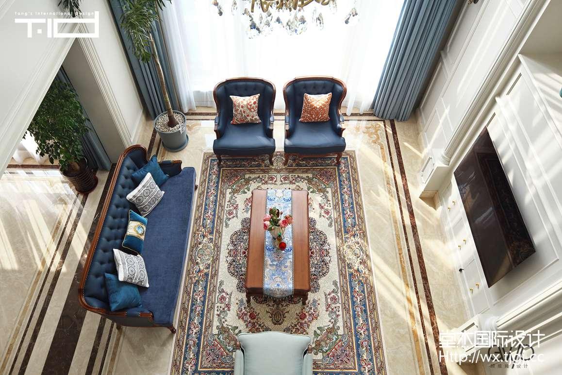美式风格-威尼斯花园-别墅-680平-装修效果实景图