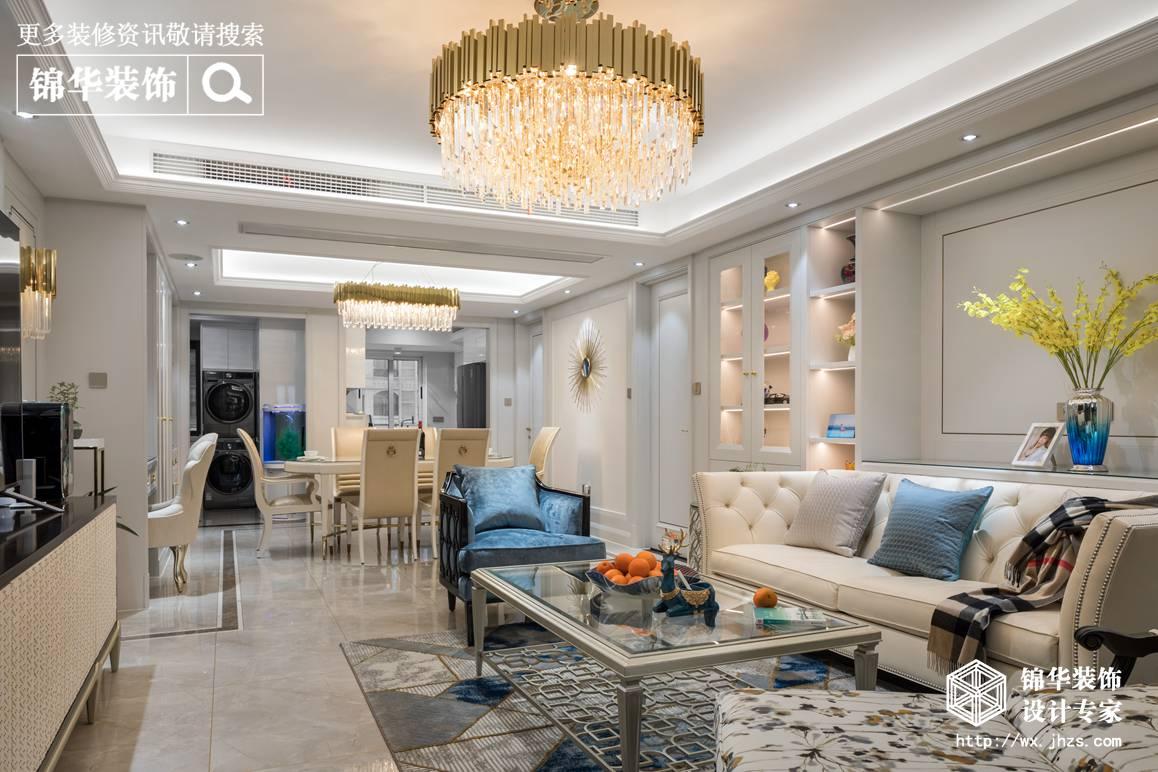 现代轻奢风格-中建溪岸观邸-两室两厅-140平-装修实景效果图