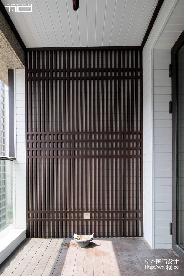 轻奢风格-玉兰花园-大户型-180平-阳台-装修效果实景图