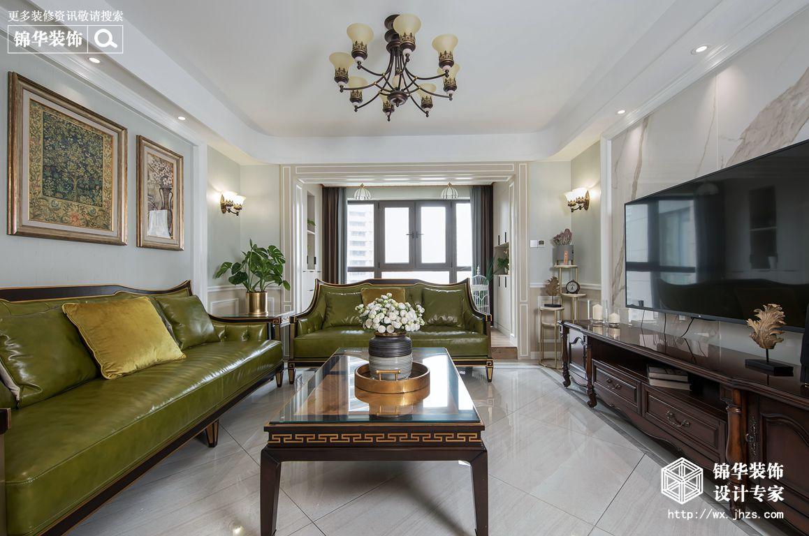 简美风格-保利中央公园-三室两厅-140平米-装修实景效果图