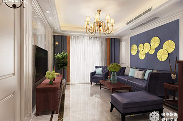 现代欧式风格-水韵花园-三室两厅-140平-装修效果图