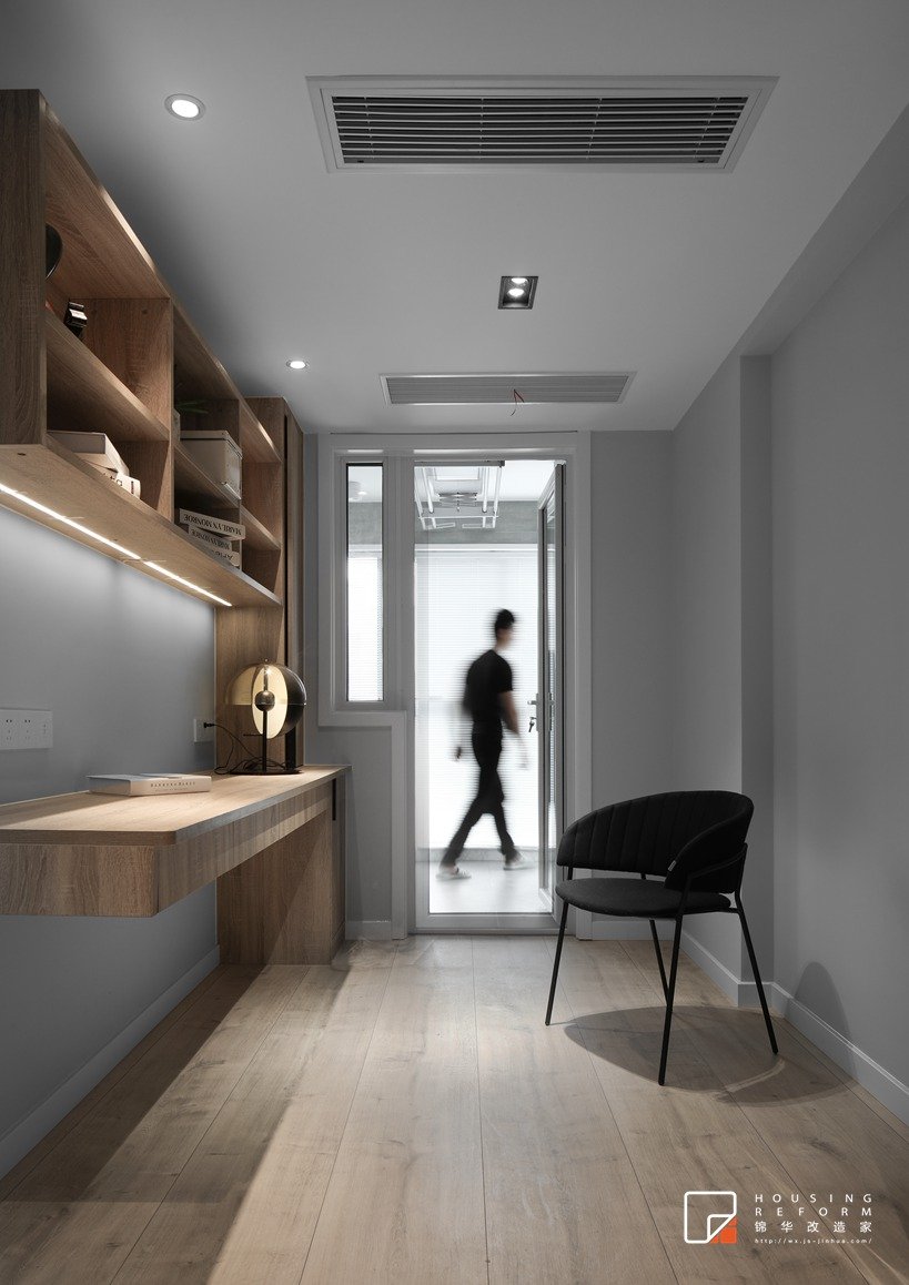 万达广场108平北欧混搭风格实景图装修-三室两厅-北欧