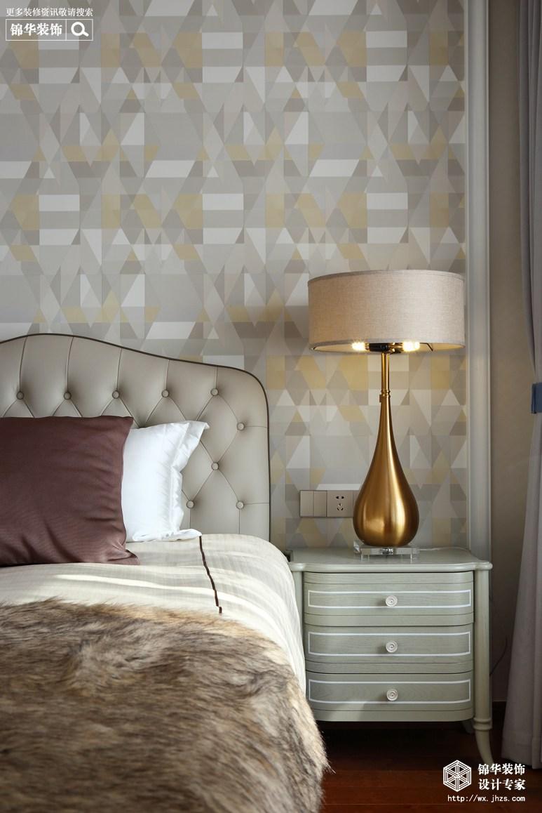 美式轻奢风格-海岸城郦园-三室两厅-135平-卧室-装修实景效果图