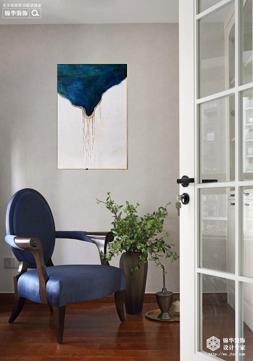 美式轻奢风格-海岸城郦园-三室两厅-135平-书房-装修实景效果图