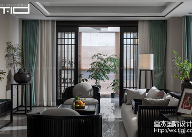 新中式-天元世家-跃层复式-360平-装修实景效果图