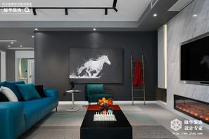 红豆人民路九号230平现代轻奢风格实景图