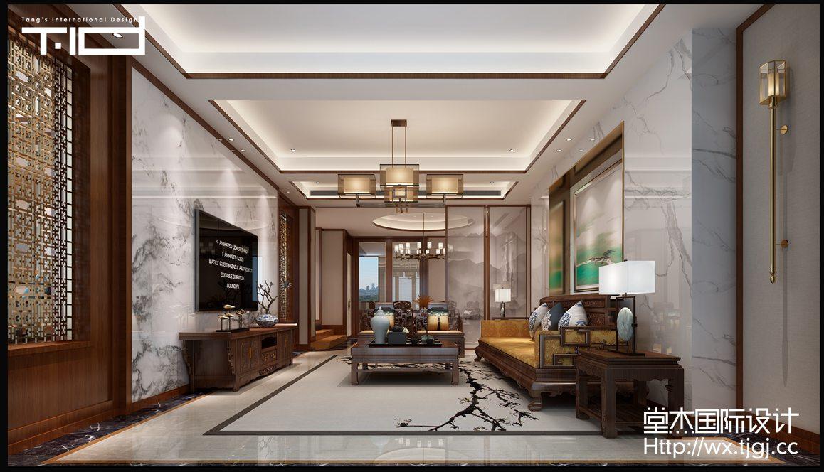 清华坊580平中式风格效果图