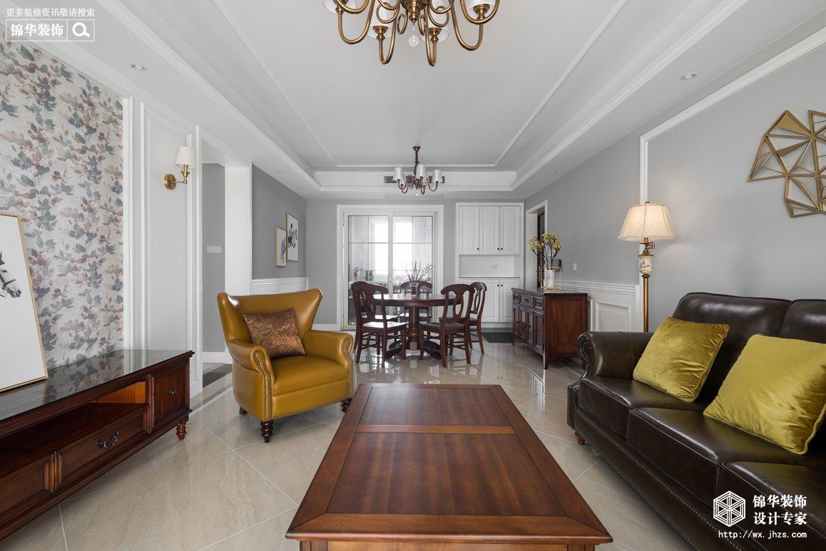 美式风格-保利中央公园-四室两厅-140平-装修实景效果图