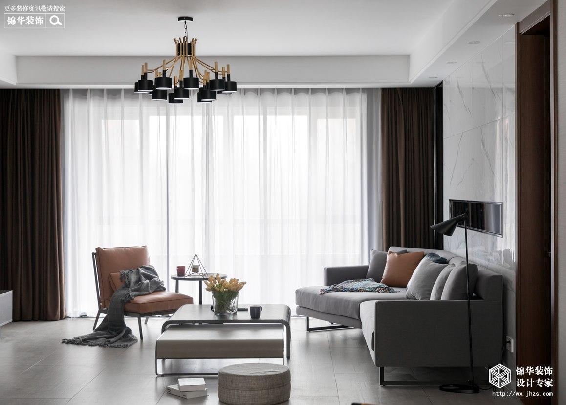 现代简约-金桂尚苑-三室两厅-160平-装修效果实景图