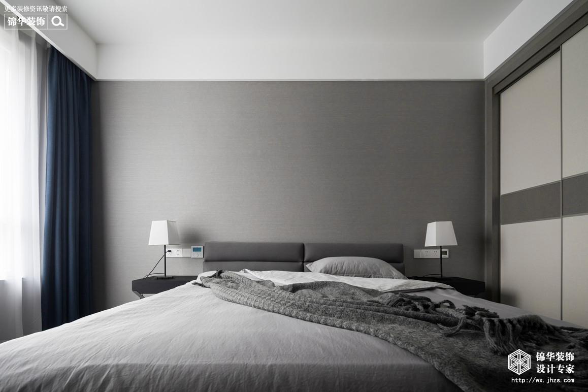 现代简约-金桂尚苑-三室两厅-160平-卧室-装修效果实景图