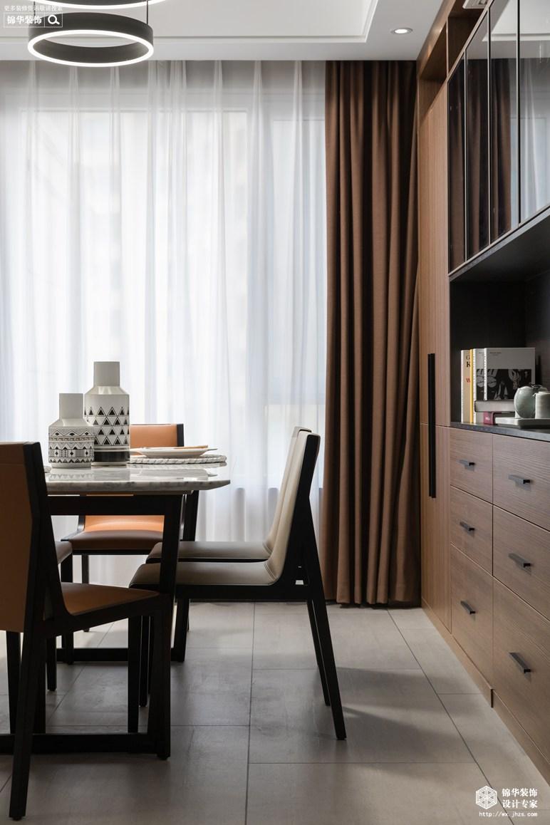 现代简约-金桂尚苑-三室两厅-160平-餐厅-装修效果实景图