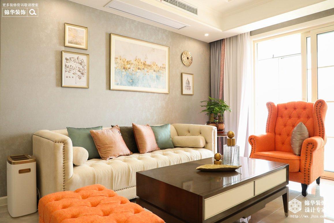 美式风格-龙湖九墅-三室两厅-110平-装修实景效果图