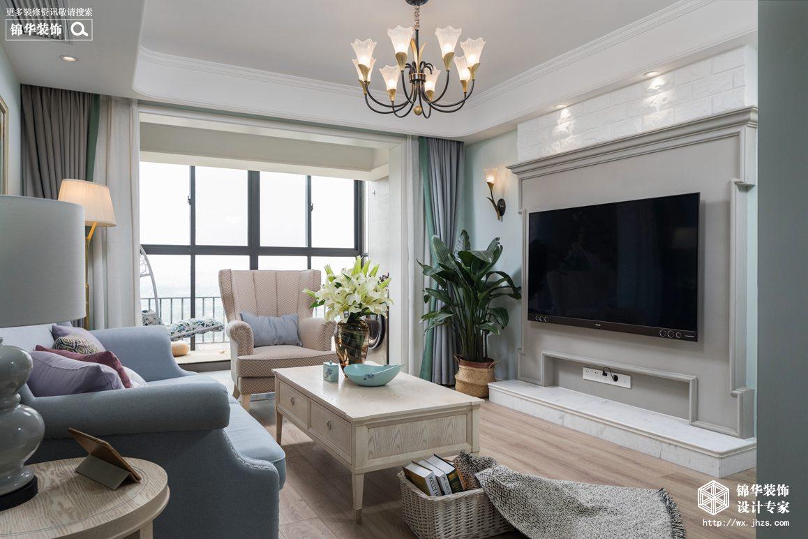 美式风格-嘉盛维纳阳光-三室两厅-120平米-装修实景效果图