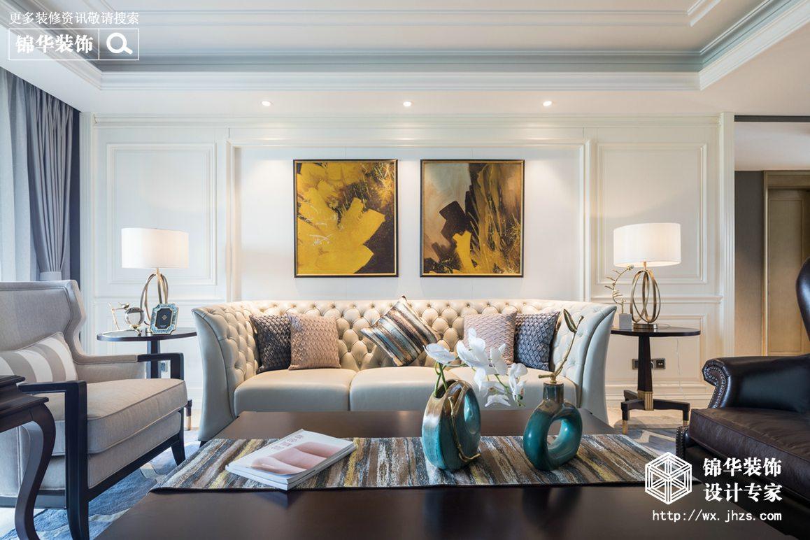碧桂园140平美式轻奢风格实景图