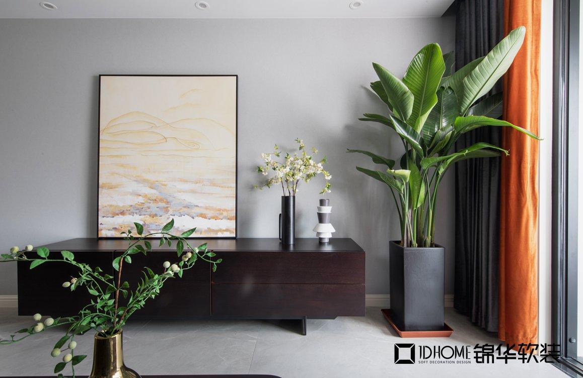 现代简约-九龙仓碧玺-三室两厅-128平-软装实景效果图