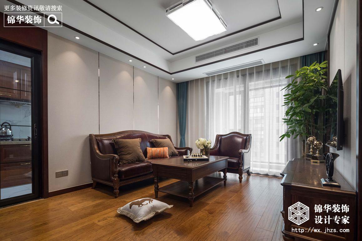 新中式风格-路劲天御-两室两厅-90平-装修实景效果图