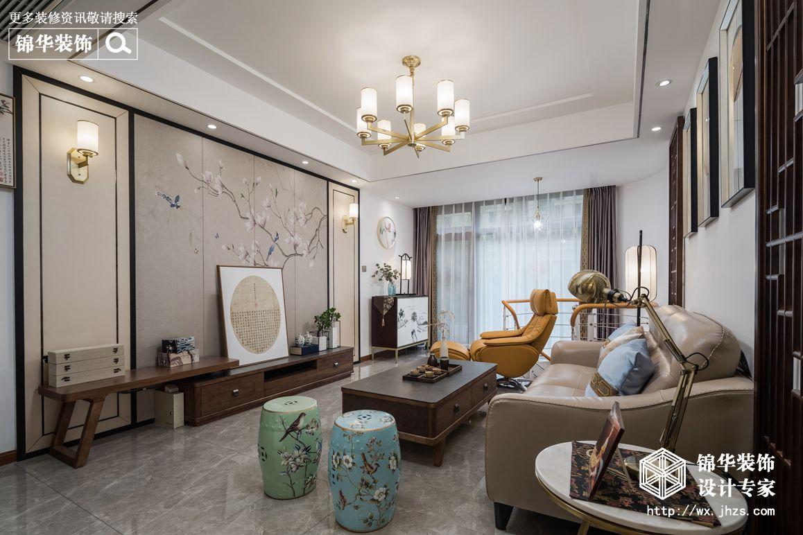 现代禅意风格-上府名苑-两室两厅-150平-装修实景效果图