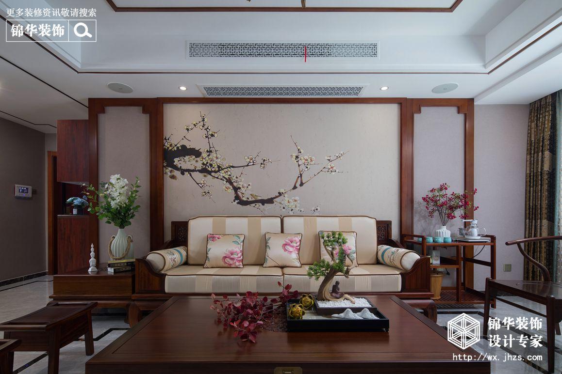 小天鹅品园128平新中式风格实景图