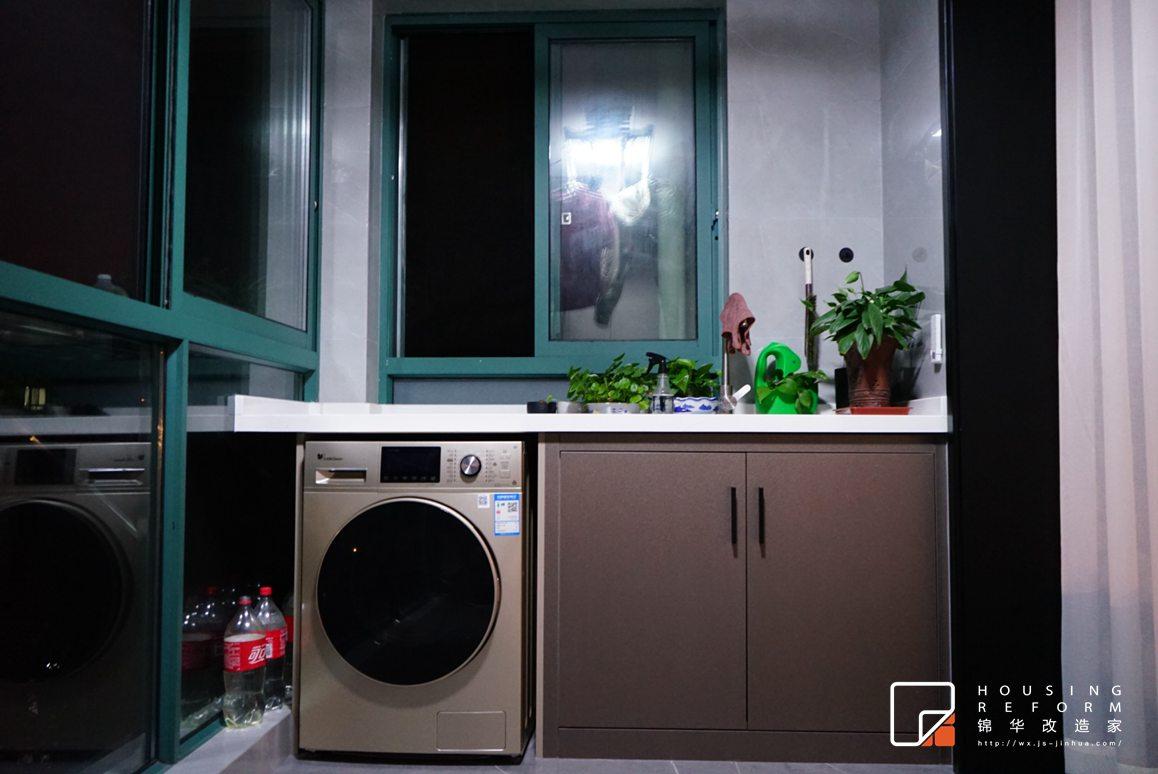 蔚蓝都市花园-现代风格-130平-装修改造实景图装修-三室两厅-现代简约