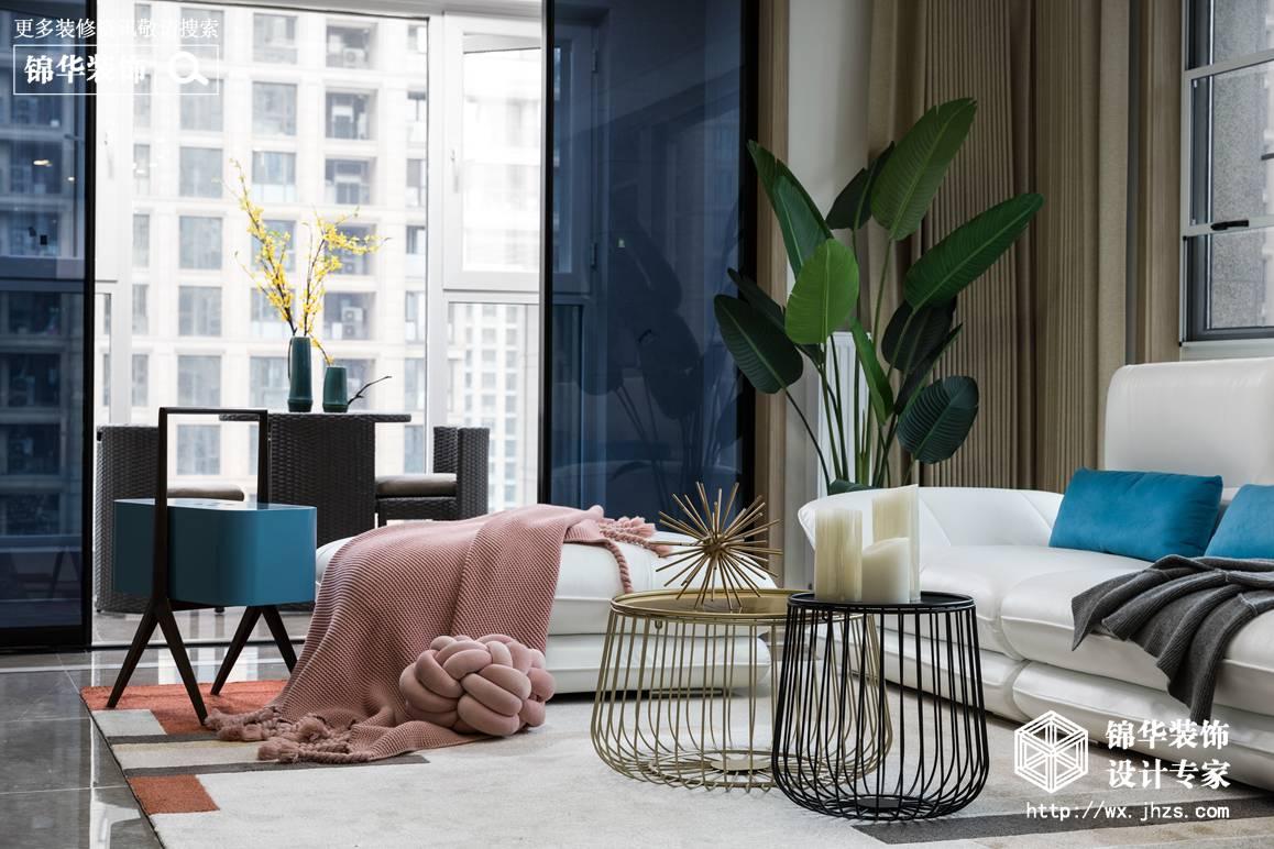 现代风格-玉兰花园-大户型-210平-装修效果实景图