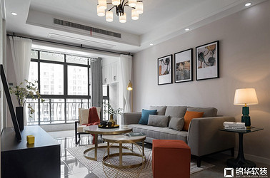 现代简约-碧桂园-两室两厅-85平-软装实景效果图