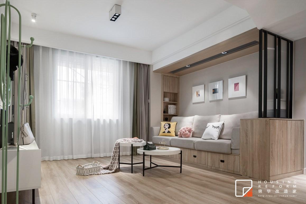 北欧风格-横街小区-三室两厅-110平-改造实景效果图