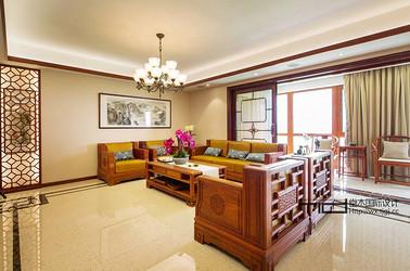 新中式风格-凯旋门-五室两厅-280平-装修效果实景图